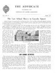 The Advocate, Vol. 9 No.16 -The Law School Moves to Lincoln Square by Fordham Law Alumni Association, Fordham Law School