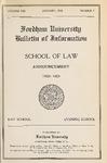Bulletin of Information 1920-1921 by Fordham Law School