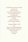 Program for the 19th Annual John F. Sonnett Memorial Lecture Series: Legal Remedies Against the Council's Failure to Act by Ole Due