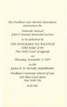 Invitation to the Sixteenth Annual John F. Sonnett Memorial Lecture Series: John F. Sonnett Memorial Lecture Series: The Constitution is Alive and Well by Sol Wachtler