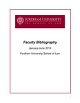 January 2019 - June 2019 Fordham Law School Faculty Bibliography
