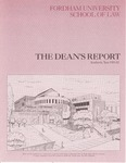 The Dean's Report by John D. Feerick