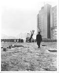 President McGinley at the future site of Fordham Law School