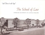 sub Deo et sub lege - The School of Law, Fordham University at Lincoln Square