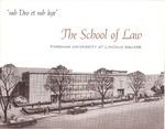 sub Deo et sub lege - The School of Law, Fordham University at Lincoln Square