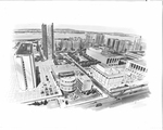 Architectural Renderings - Aerial View, Fordham University, Lincoln Square and Lincoln Center for the Performing Arts
