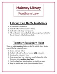 Guidelines by Maloney Library, Fordham University School of Law