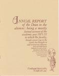 Annual Report to the Alumni