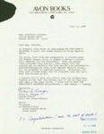 Letter from Ellen Krieger, Senior Editor for Avon Books, to Geraldine Ferraro by Avon Books and Geraldine Ferraro