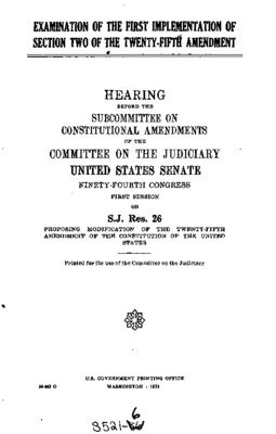 the role of the twenty fifth amendment in the united states constitution Sixth amendment - gpo the.
