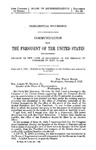 Presidential Succession: Communication from the President of the United States: Recommending Revision of the Laws as Suggested in His Message to Congress of June 19, 1945