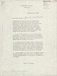 Lyndon B. Johnson-John W. McCormack Letter Agreement
