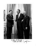 President Lyndon B. Johnson, Representative Richard Poff, and Dean John D. Feerick