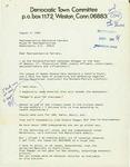 Letter from  to Geraldine Ferraro