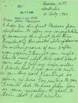 Letter to Geraldine Ferraro