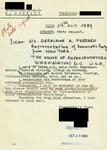 Letter from a Turkish Supporter to Geraldine Ferraro