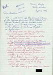 Letter from a Supporter in Sweden to Geraldine Ferraro