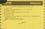 Telegram from Yvonne Magno Pantoja, of the Brazilian Consulate in San Francisco, to Geraldine Ferraro