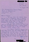 Letter from a Supporter in New Zealand to Geraldine Ferraro