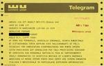 Telegram from an Italian Supporter to Geraldine Ferraro