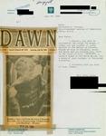 Letter from a Pakistani Supporter to Geraldine Ferraro