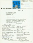 Letter from Members of the Hiroshima YMCA to Geraldine Ferraro