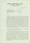 Letter from K. Malamis, President of the Athenian Humanitarian Society, to Geraldine Ferraro