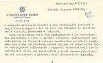 Letter from the President of Scuolo Media Statale, to Geraldine Ferraro