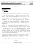Letter from Geraldine Ferraro to an Italian Journalist