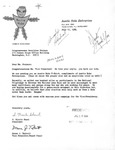 Letter from Auntie Nuke Enterprises to Geraldine Ferraro