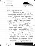 Letter from a New Jersey Supporter to Geraldine Ferraro by Geraldine Ferraro