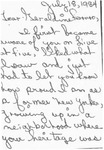 Letter from a New Jersey Supporter to Geraldine Ferraro