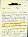 Letter from a New Jersey supporter to Geraldine Ferraro. Includes data entry sheet.