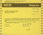 Telegram from William Kahn, Executive Vice President of the Federation of Jewish Philanthropies of New York, to Geraldine Ferraro