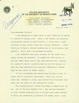 Letter from College Democrats of the University of Pennsylvania to Geraldine Ferraro