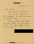 Letter from a New York Supporter to Geraldine Ferraro