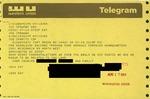 Telegram from a New York Supporter to Geraldine Ferraro by Geraldine Ferraro