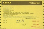 Telegram from Alfred Moran, Executive Director for Planned Parenthood of New York City, to Geraldine Ferraro