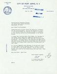 Letter from E. Arthur Gray, Mayor of Port Jervis, to Geraldine Ferraro