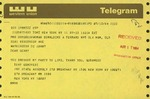 Telegram from Tony Genovesi, New York State Assemblyman, to Geraldine Ferraro