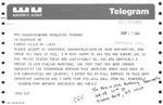 Telegram from Anthony Seminerio, New York State Assemblyman, to Geraldine Ferraro