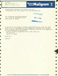 Telegram from the Family Planning Advocates of New York State to Geraldine Ferraro