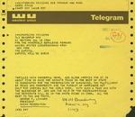 Telegram from George Livanos, President of the Chian Federation, to Geraldine Ferraro
