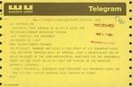 Telegram from Joseph Penatello, Vice President of Air Transport-Local 504, to Geraldine Ferraro