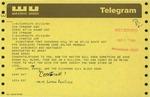 Telegram from the Richmond Hill Block Association to Geraldine Ferraro