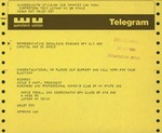 Telegram from Joyce R. Hart and Marie Creel, Leadership with the Business & Professional Women's Club of New York, to Geraldine Ferraro