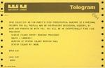 Telegram from Ralph Lamberti, Deputy Borough President of Staten Island, to Geraldine Ferraro