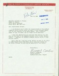 Letter from Norman A. Constantino, Project Director for the Bushwick Community Service Society, to Geraldine Ferraro