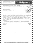 Telegram from Leadership of Queens Council on the Arts to Geraldine Ferraro by Aida Gonzalez, Jean P. Weiss, and Geraldine Ferraro
