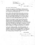 Letter from Ravenswood Senior Center to Geraldine Ferraro